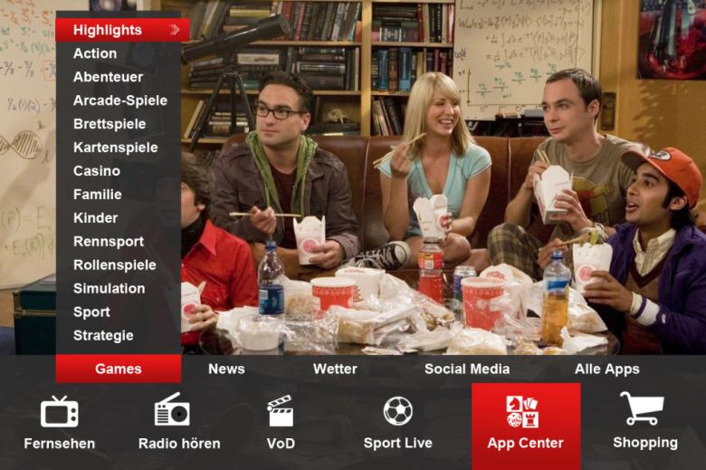 Marktidee für Swisscom TV: Ausbau GameCenter