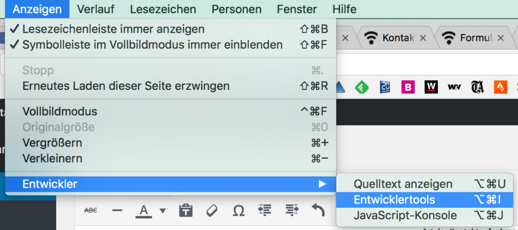 google chrome entwicklertools